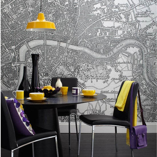 Weird And Wonderful Dining Rooms Purple Yellow Map Room