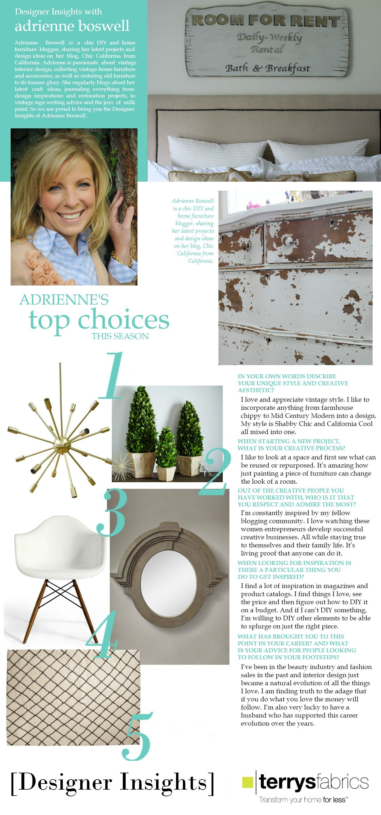Designer Insights - Adrienne Boswell