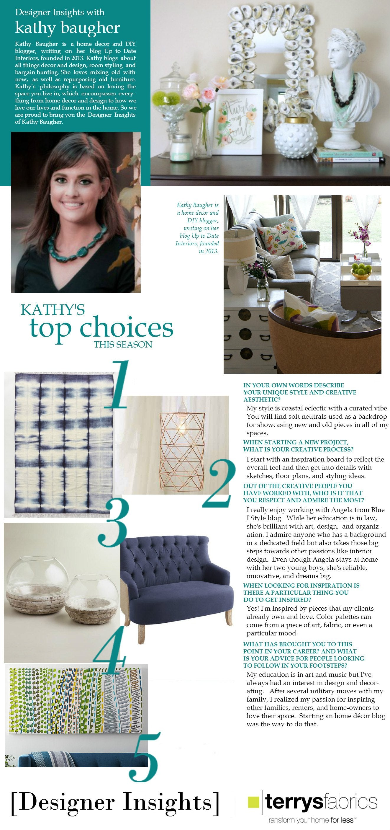Designer Insights - Kathy Baugher