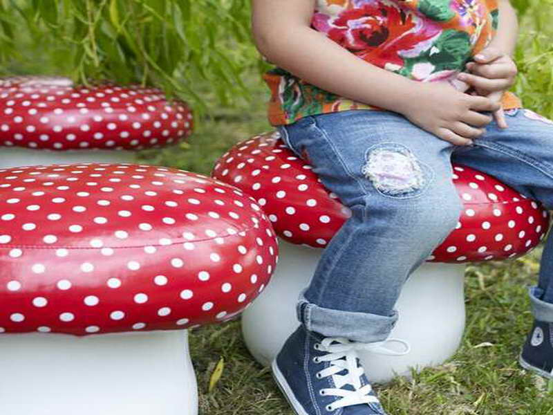 furniture-decorating-project-for-decorating-the-kids-room-with-unique-mushroom-pouf-accessories-seats