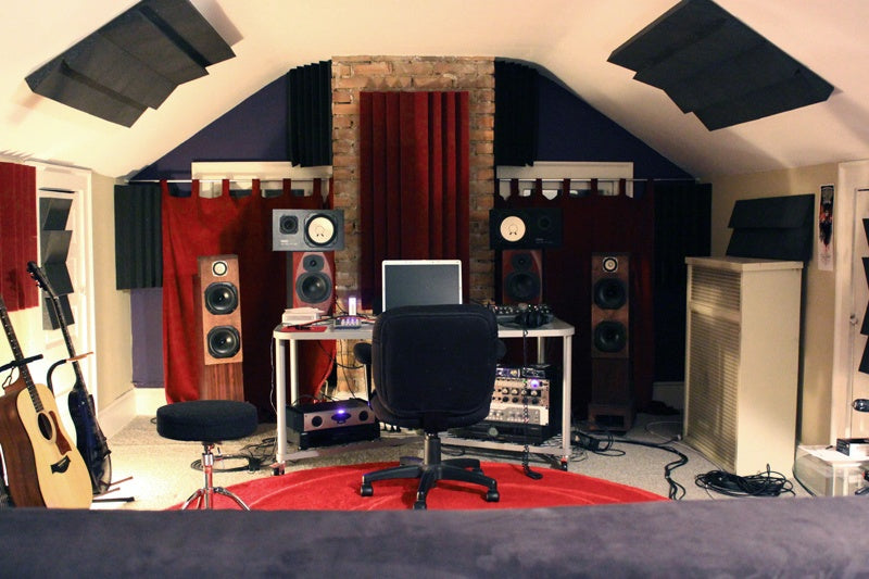 Loft music room and recording studio