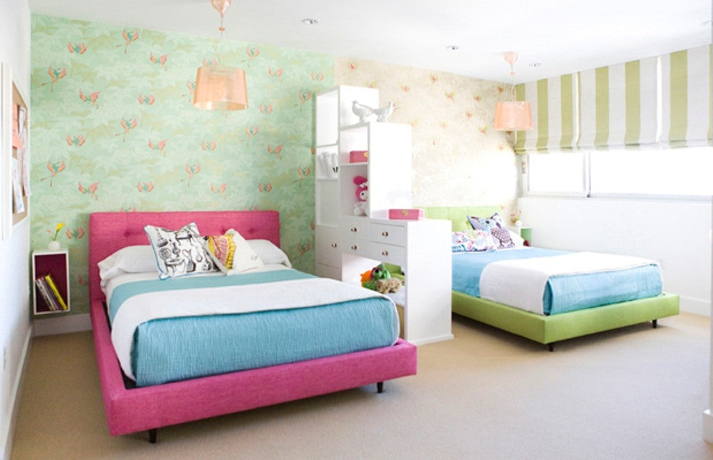 The great divide inspiring shared bedrooms terrys fabrics for Boy and girl bedroom designs