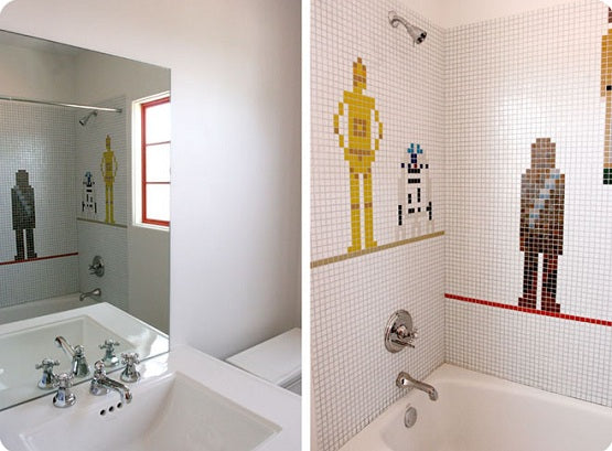Star Wars Bathroom Decor In White Bathroom
