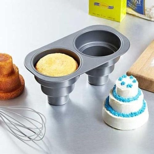 Cake mould for making a mini three tier cake