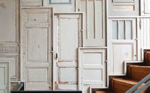 Recycling old doors to create modern wall panels