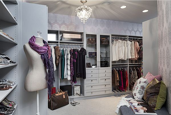 Beautiful walk in closet with fancy mannequin