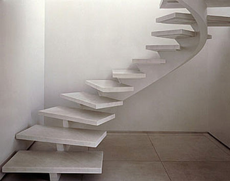Curvy modern marble stairs