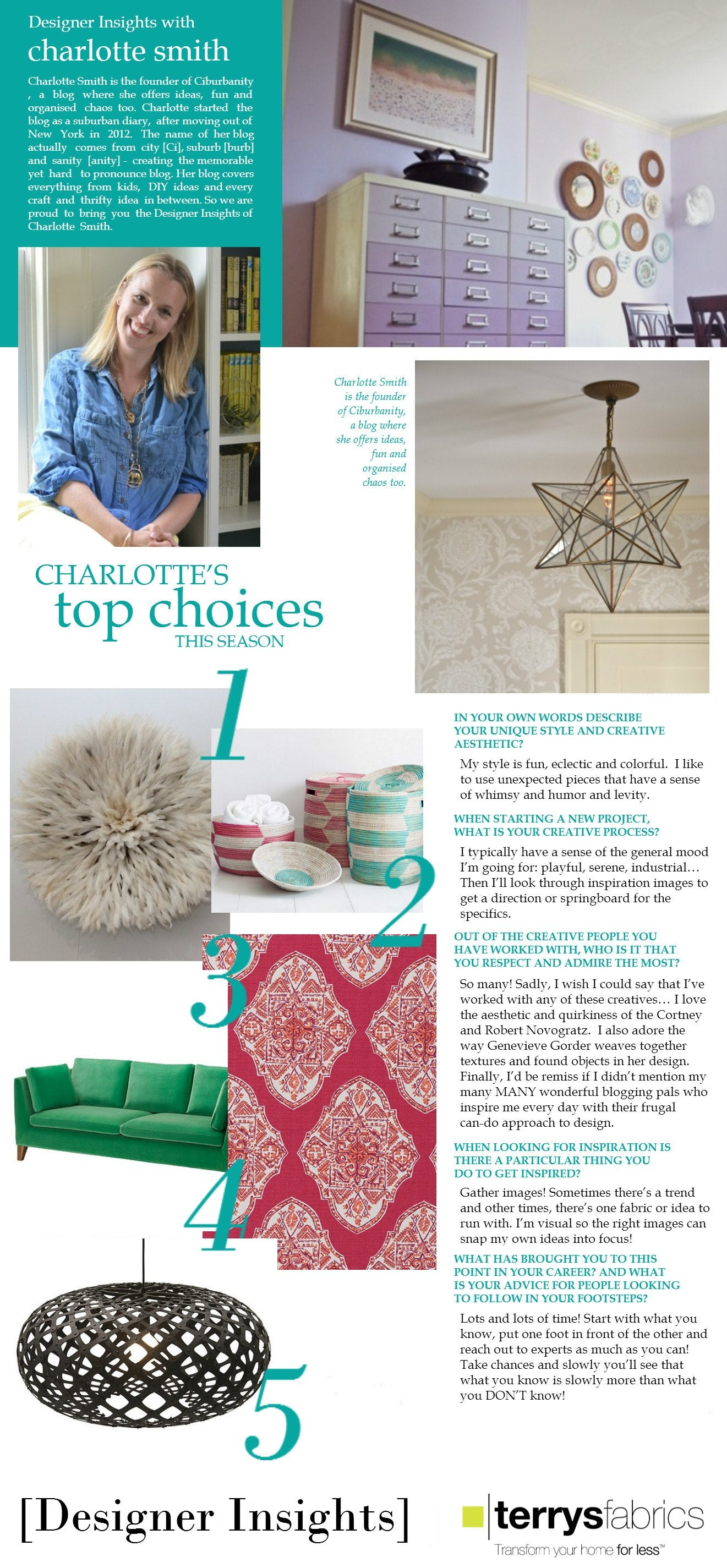 Designer Insights - Charlotte Smith