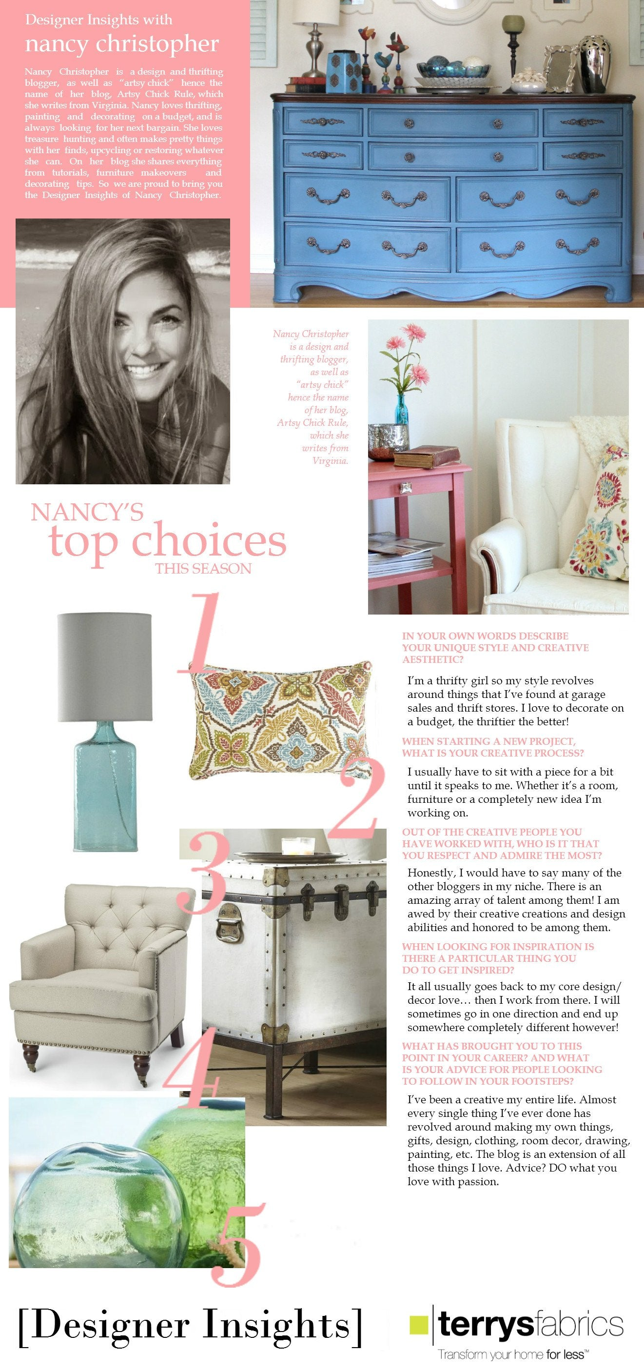 Designer Insights - Nancy Christopher