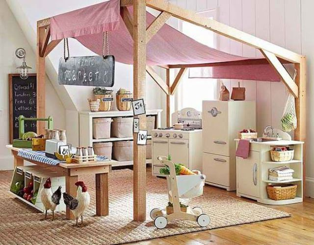 Funky Kids Kitchen With Play Fridge, Oven And Utensils