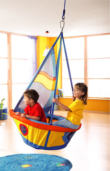 Boat Themed Indoor Ceiling Swing For Kids
