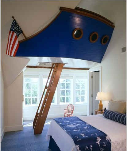 Kids Secret Den With Ladders Designed Like An American Boat Hull