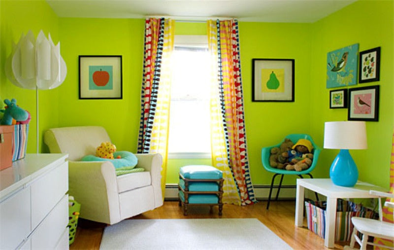 A Rainbow Of Bright Nursery Walls