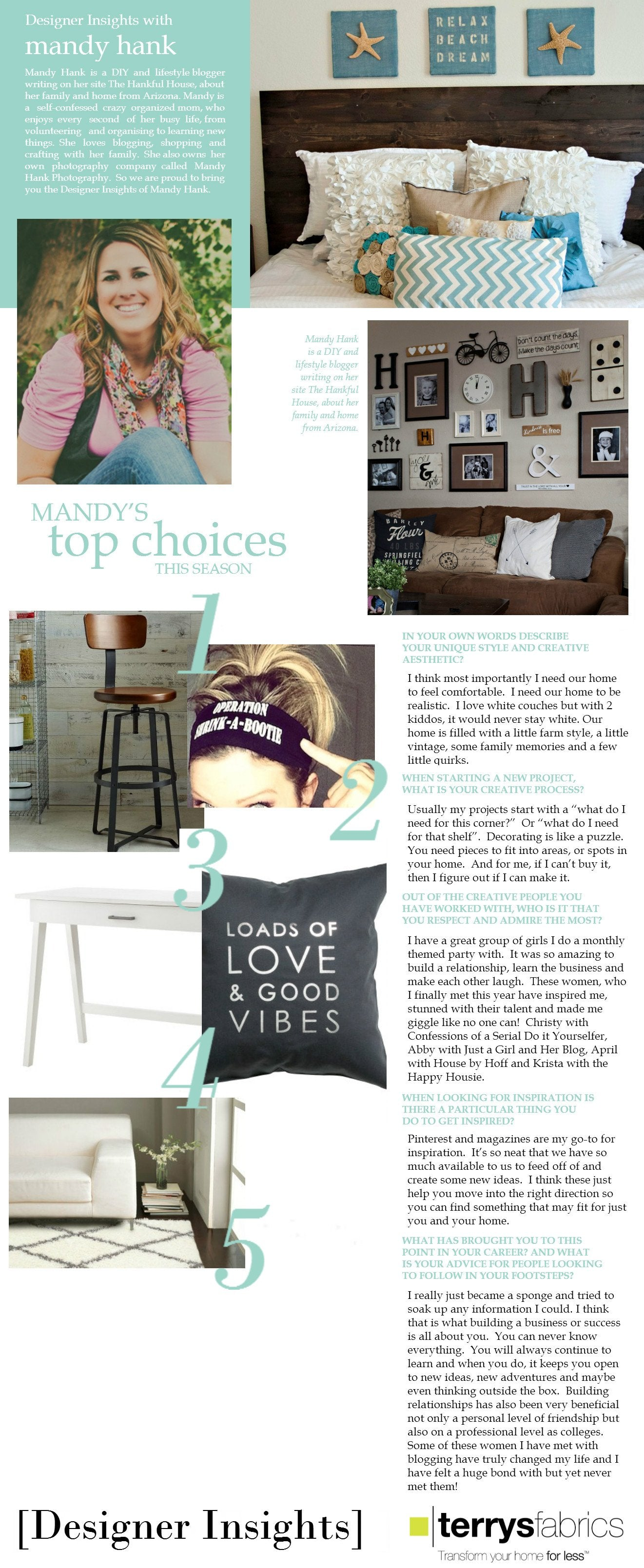 Designer Insights - Mandy Hank