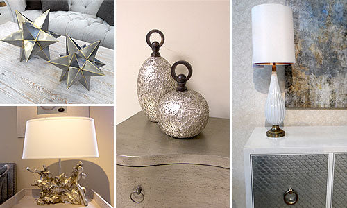 Mixed metals accessories for the home