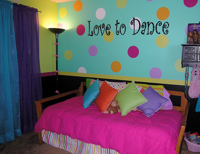 Love To Dance Quote On Girls Bedroom Wall