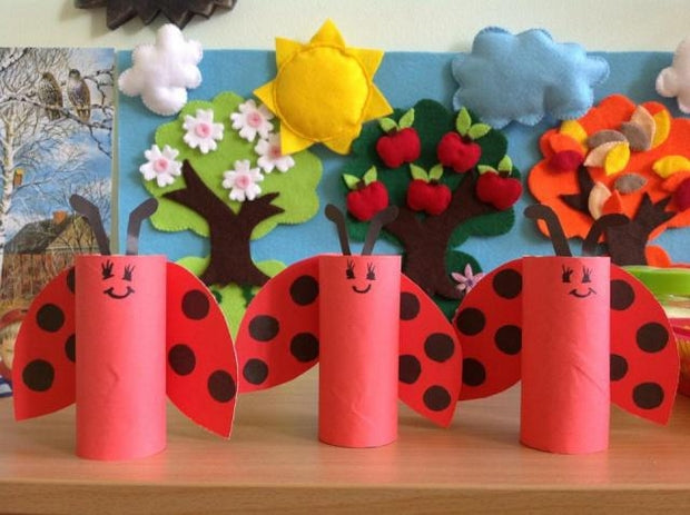 valentines-crafts-for-kids-reused-toilet-paper-ladybugs-creative-decorating-ideas