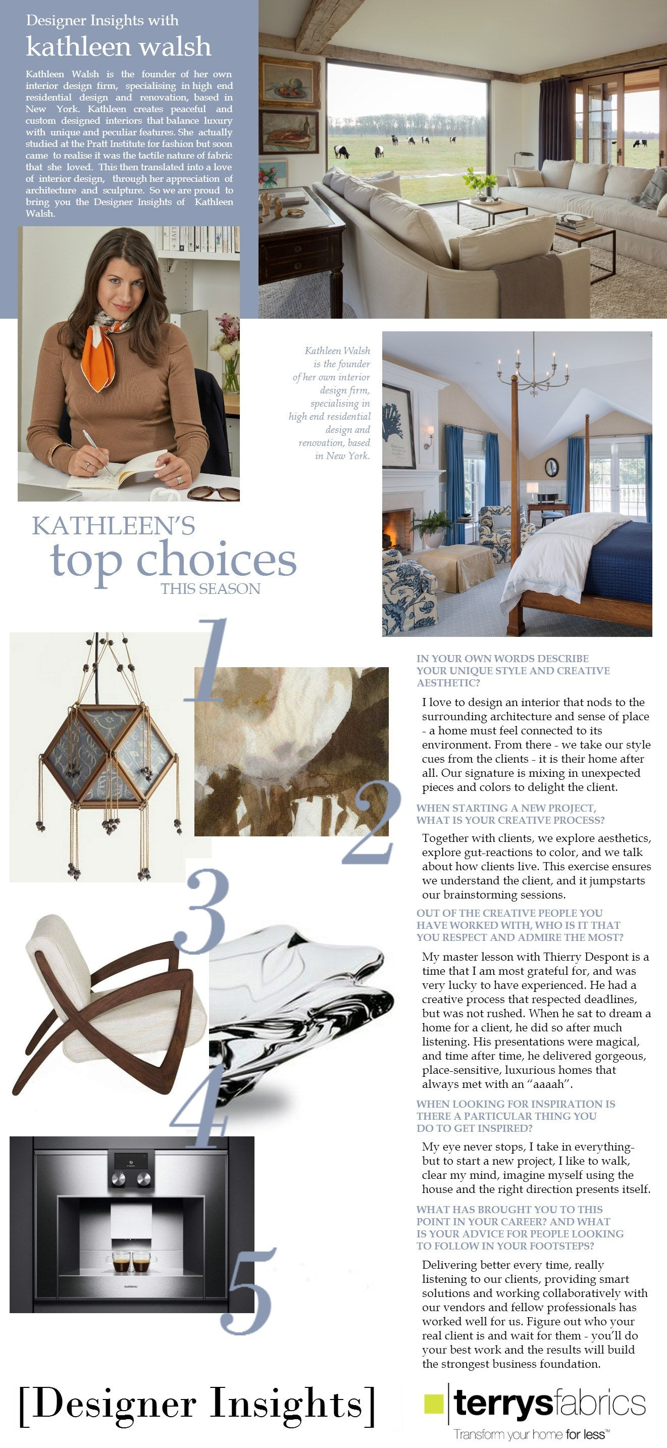 Designer Insights - Kathleen Walsh
