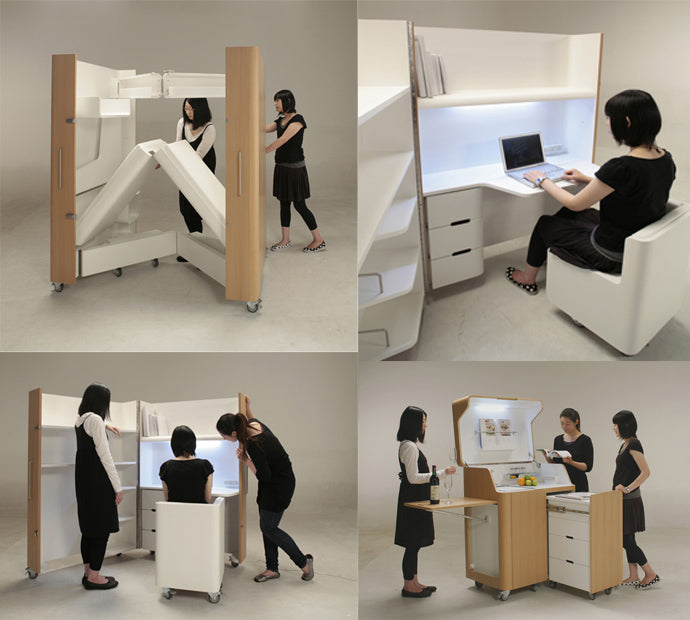 Funky fold out multipurpose office furniture