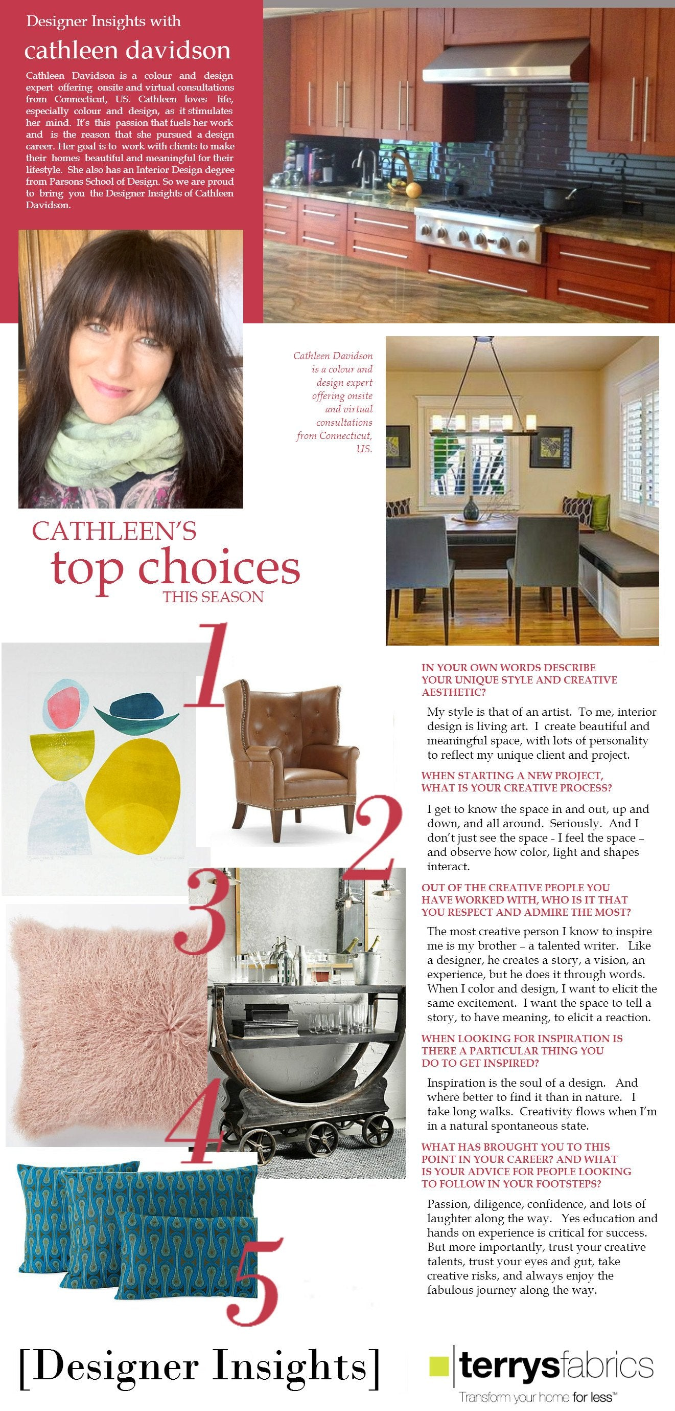Designer Insights - Cathleen Davidson