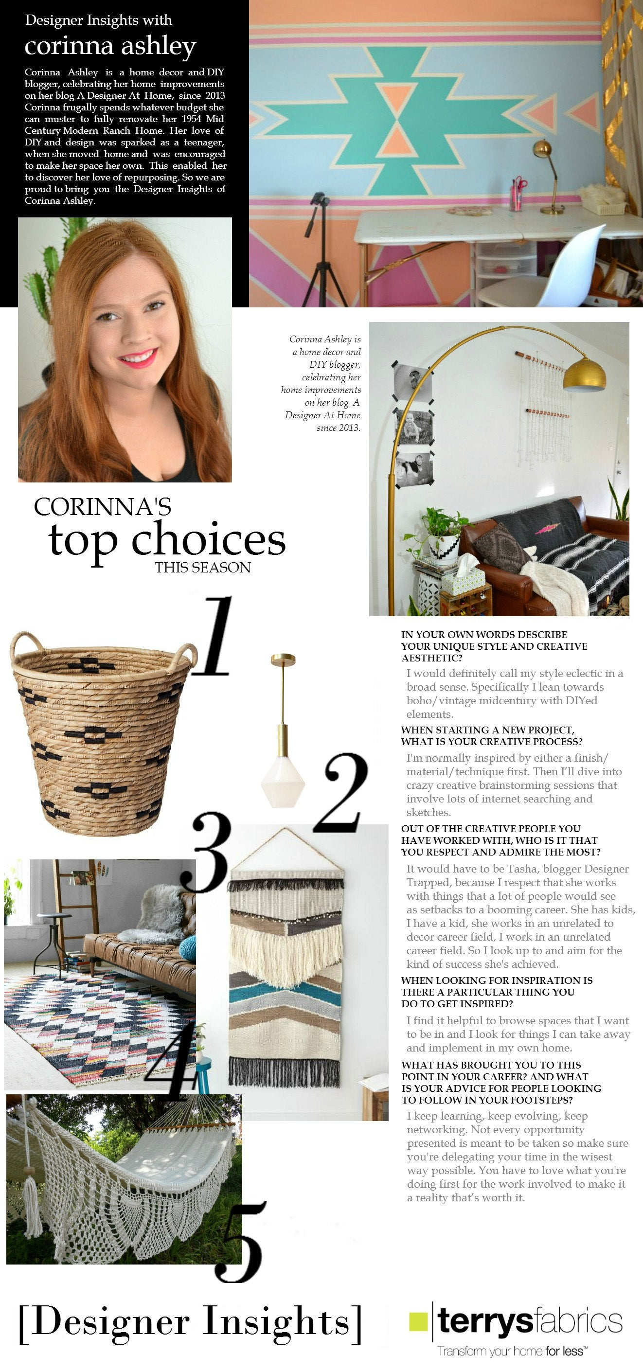 Designer Insights - Corinna Ashley