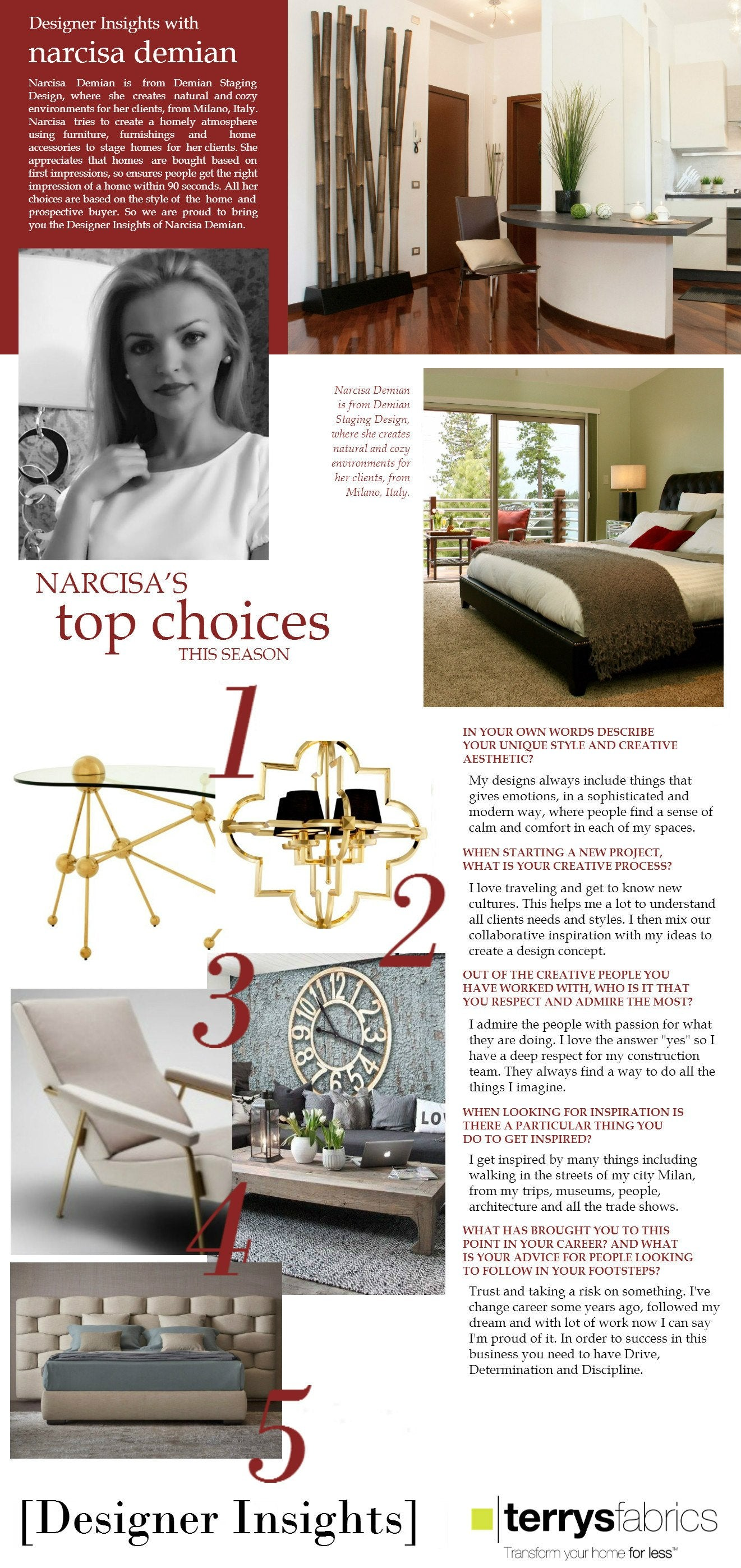 Designer Insights - Narcisa Demian