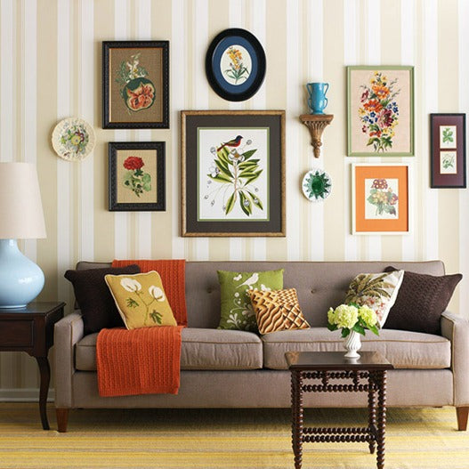 eclectic-gallery-above-sofa-bhg