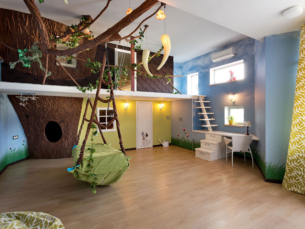 Jungle inspired kids room decorations ideas