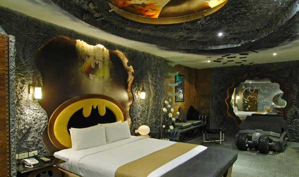 Batcave themed bedroom