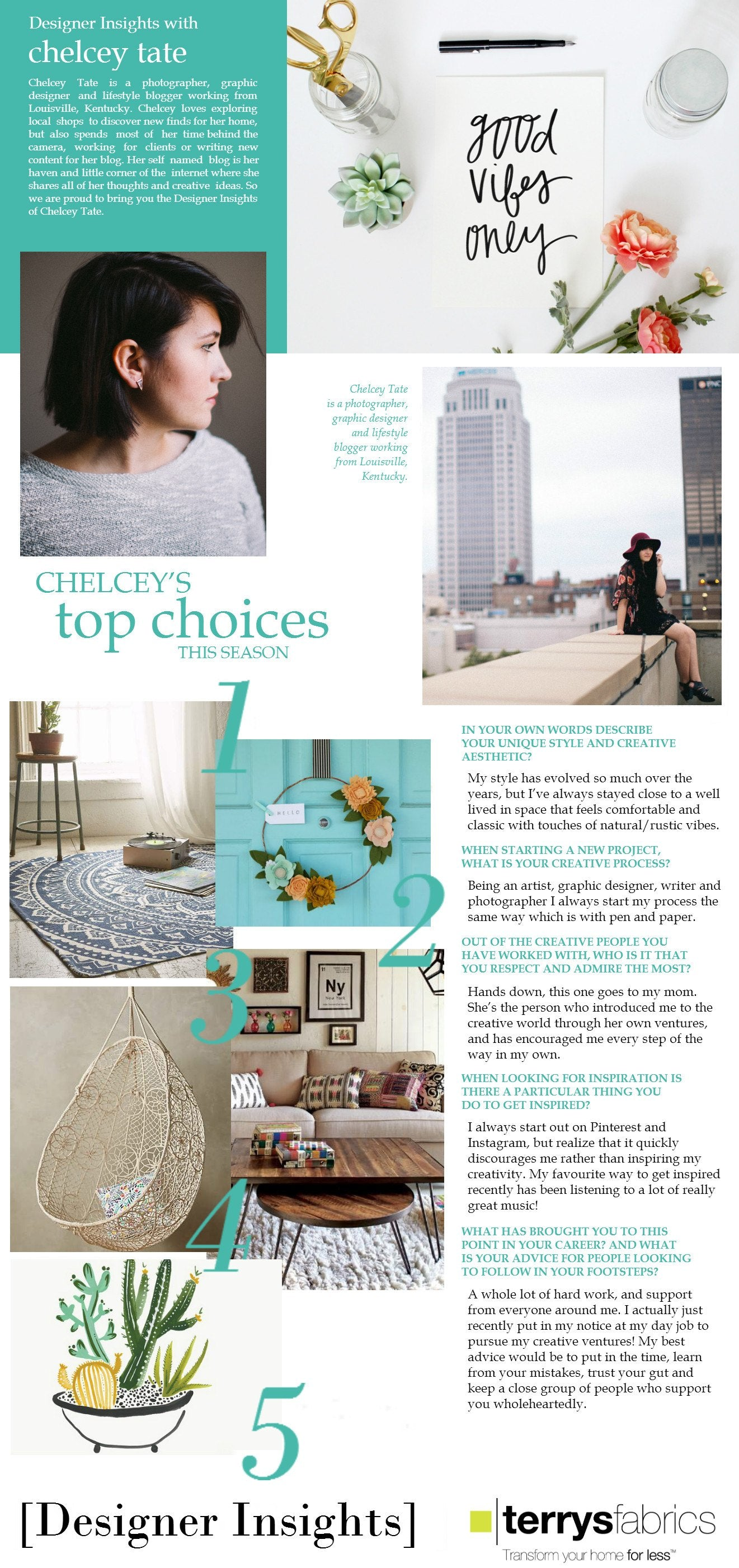 Designer Insights - Chelcey Tate