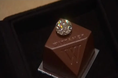 Worlds most expensive praline by Paul Wittamer, decorated with a diamond