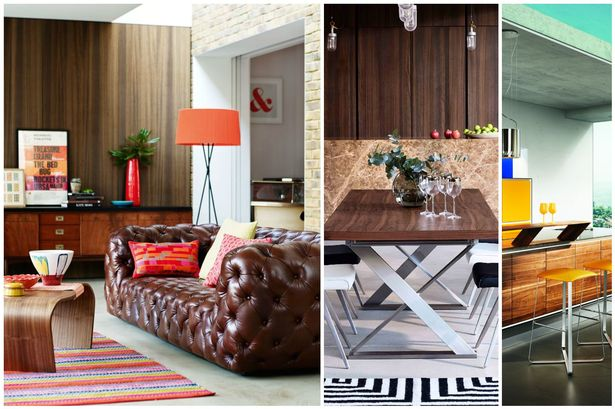 Brown is beautiful, collage of interiors