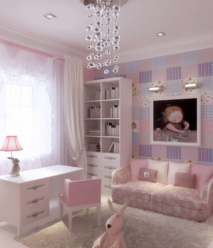 Pink Lilac Blue Girls Room