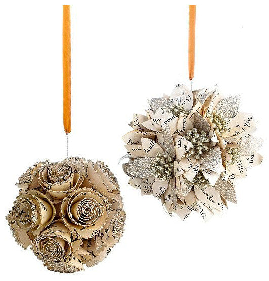 Gold, cream and silver Christmas tree ornaments