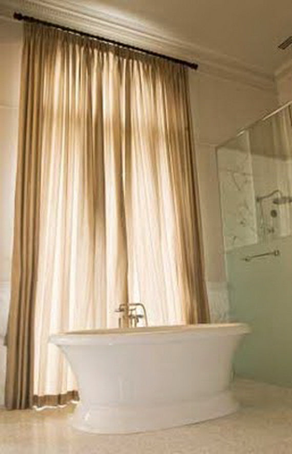 Give Your Bathroom The Luxury Of Curtains