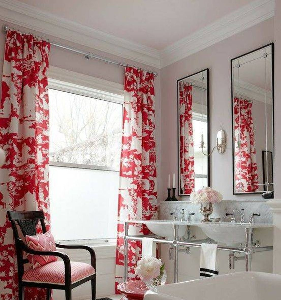 Luxury bathroom curtains - Bathroom Curtains Throughout Modern Bathroom Curtains Ideas For