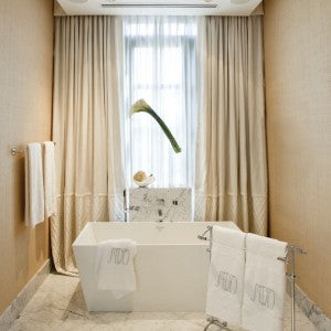 Luxury Window Drapes Bathroom Contemporary With Ceiling Lighting