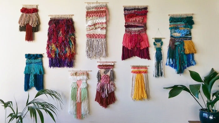 Fabric wall Hangings In A Number Of Colours
