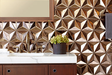 Geometric textured walls