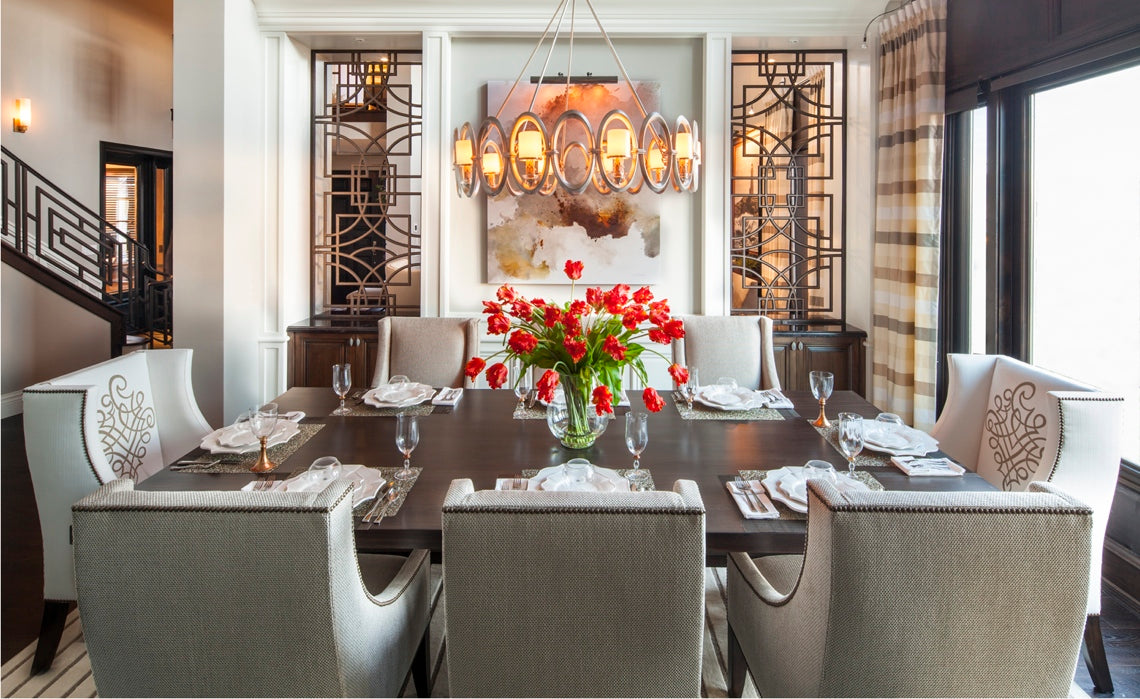 Hamptons inspired luxury dining-room