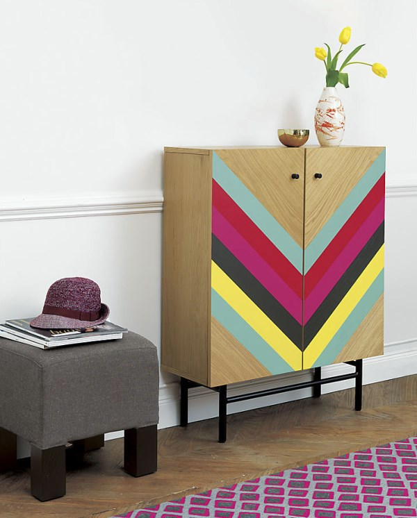 Geometric pattern furniture