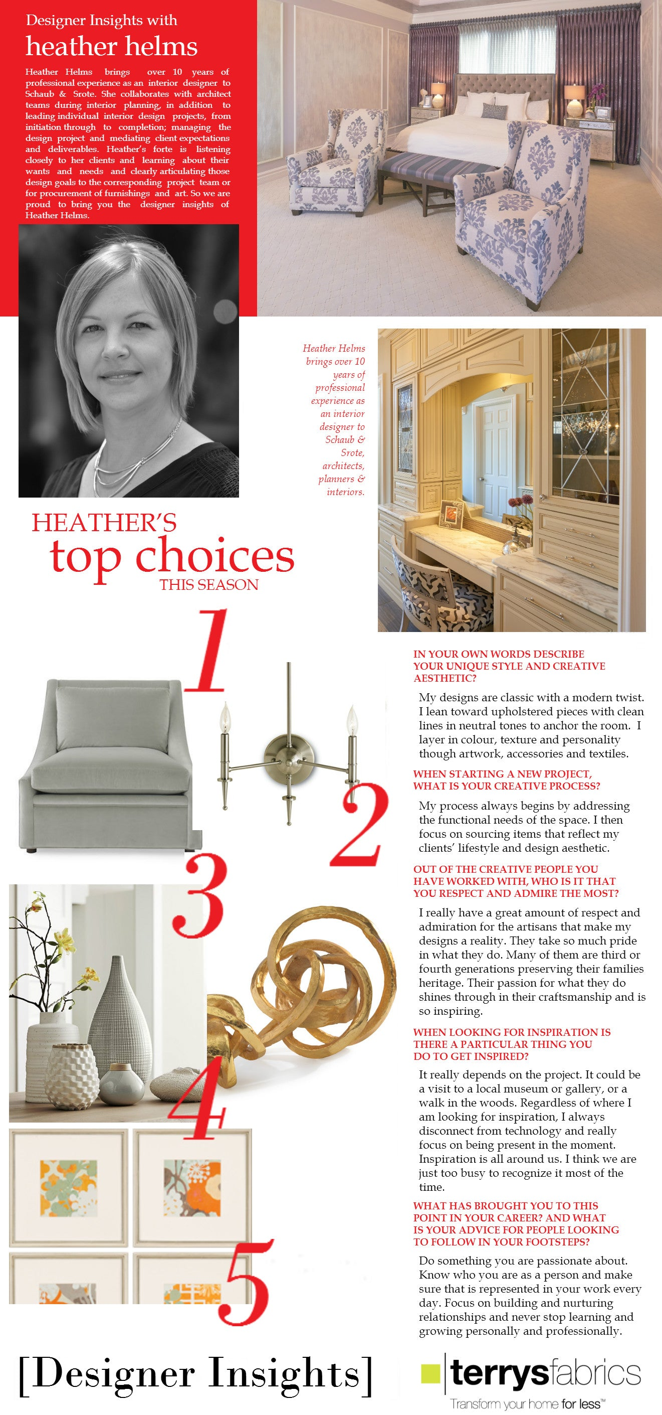 Designer Insights - Heather Helm of Schaub & Srote