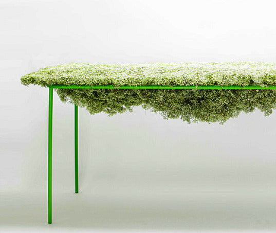 Green Table Frame With Moss Top