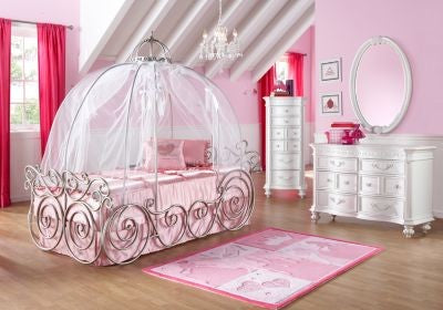 Cinderalla style pumpkin bed design for kids