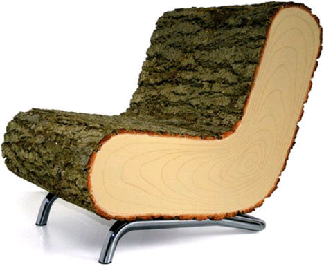solid-simple-log-chair