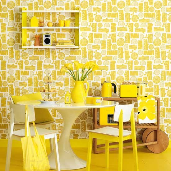 A Cramped Kitchen And Dining Room Become One Ideal: Can Too Much Colour Can Be Bad For Your Health?