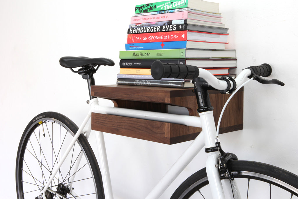 Clever Bike Stand With Storage On Top For Books