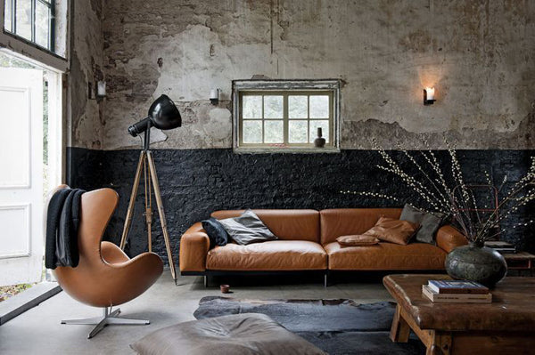 Tan leather living room furniture
