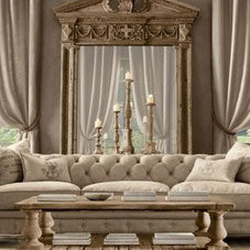 Cream and beige classy living room