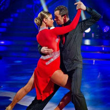 Two Strictly Come Dancing dancers doing an Argentina Tango